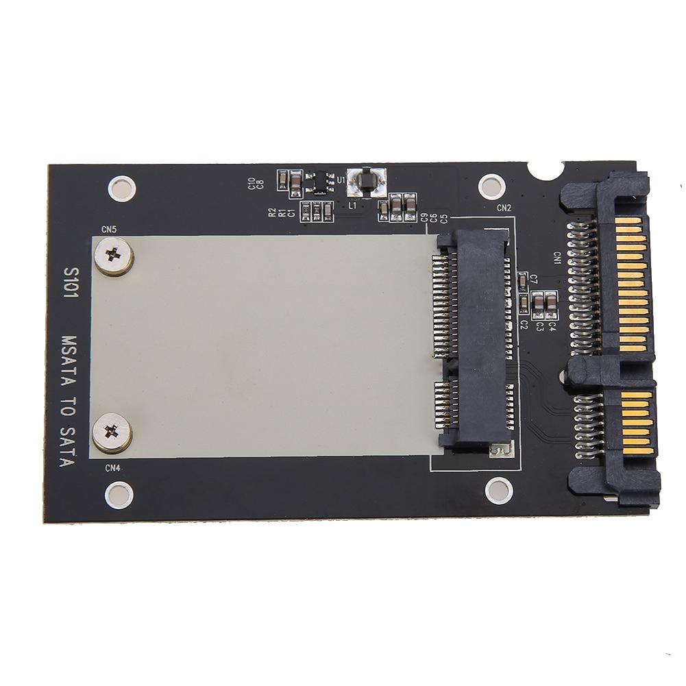 """Universalūs standartiniai mSATA Mini SSD iki 2,5 colių SATA 22 kontaktų konvertavimo adapterio kortelė, skirta """"Windows2000 / XP / 7/8/10 / Vista"""" """"Linux Mac 10 OS"""""""