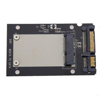 """Universal msata 2,5 """"SATA estándar Mini SSD m SATA a SATA de 2,5 pulgadas 22-Convertidor de PIN adaptador de tarjeta para Windows Linux Mac 10 OS"""