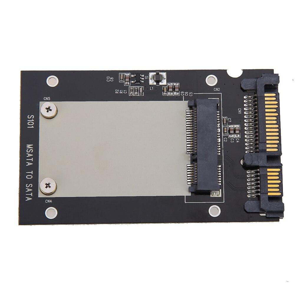 """Universal msata para 2.5 """"sata padrão mini ssd m sata para 2.5 polegada sata 22 pinos conversor adaptador cartão para windows linux mac 10 os"""
