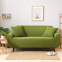 TUTUBIRD Japanese Style Slipcover Sofa Cover Solid simple Stretch Tight Couch Cover Knitted Fabric Anti Slip Flexible Couch Case