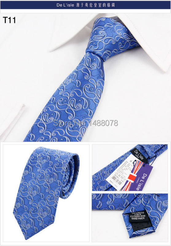 Blue Paisley Tie 2M6-17++