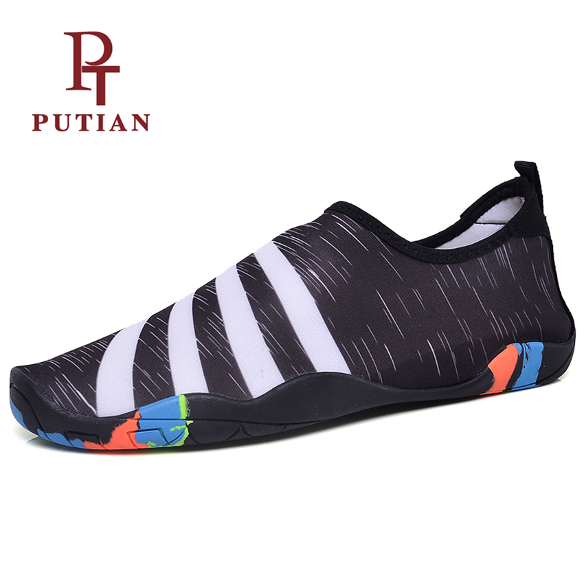 PU TIAN Women Quick Drying Auqa Shoes Summer Outdoor Breathable Light Unisex Barefoot Water Shoes For Swimming Beach Size 36-46