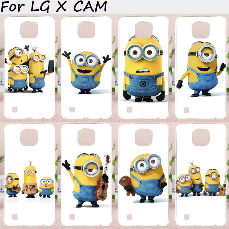 TAOYUNXI Mobile Phone Cases For LG X Cam Cover F690 K580 K580Y X-cam K580 K580DS Case Plastic TPU Lovely Minions Bags Skin Shell