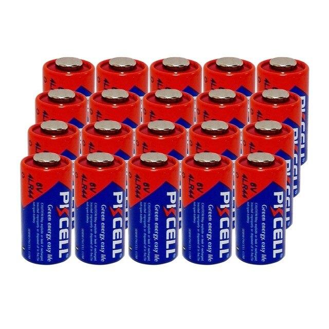 20Pcs/lot PKCELL Battery 6V 4LR44  L1325 PX28A 476A A544 28A Alkaline Battery Batteries Bateria