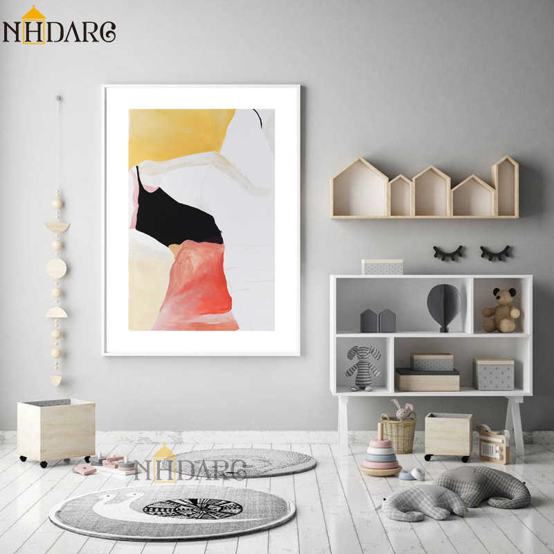 European Retro Fashion Abstract Style Posters and Prints Canvas Painting Art Wall Picture for Living Room Abstract Home Decor