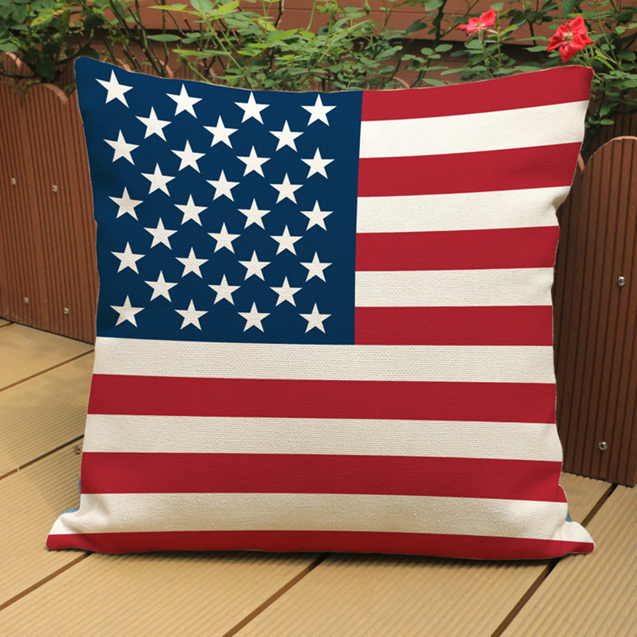 American Flag Pattern Cushion Cover Pillow Case Cotton Linen UK Flag Home  Decorative Office Sofa Chair Cushion Cover In Cushion Cover From Home U0026  Garden On ...