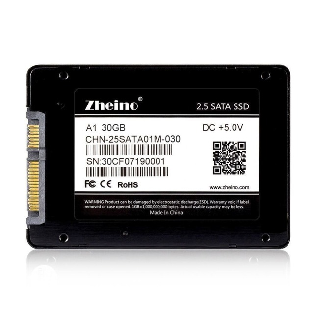 Zheino A1 30GB Internal Solid State Drive 2.5 SATA3 SSD For Laptop Desktop SATA3 6Gbps Hard Drive