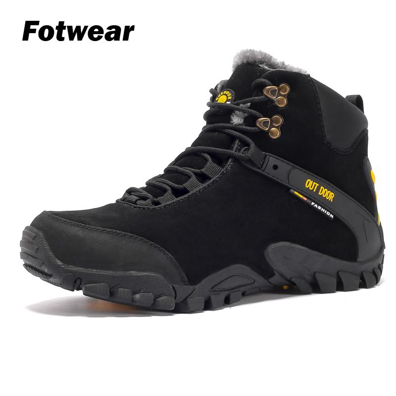 Fotwear Men's Winter Boots Casual Outdoor Ankle Shoes Warm In The Iciest And Snowiest Of Days With Comfort And Reliable Traction