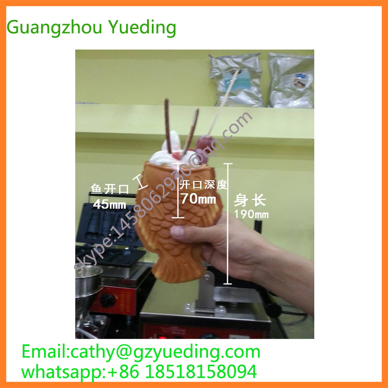 Korea single ice cream taiyaki machine/taiyaki maker/commercial taiyaki machine