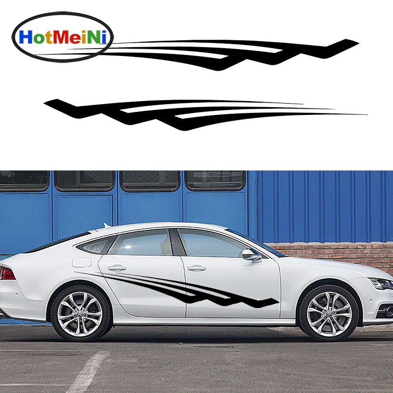 HotMeiNi 2 X Personalized Fast Pace Joy Life Art Striped Car Sticker for Camper Van Trailer Kayak Canoe Car Body Decal 200*19 cm hotmeini 2 x cold water droplets shape pirates assassins creed kull car sticker for wall suv window door vinyl decal 9 colors
