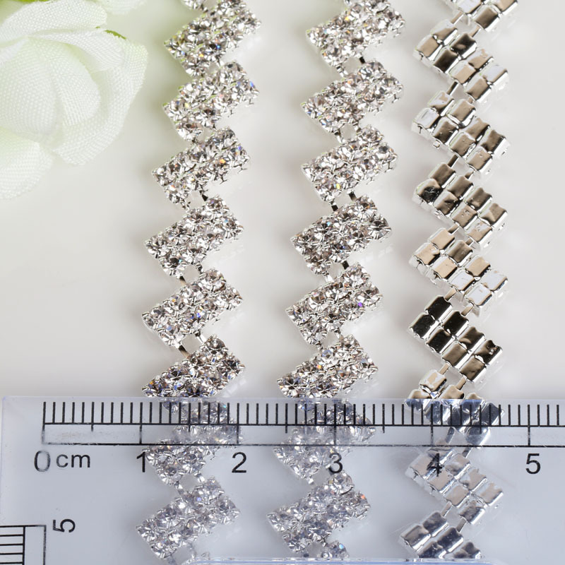 Sparkle New Style Welding Claw Plated T Fancy Diamond Chain Diy Wedding Dress Headwear Handmade Decoration Accessories In Craft Supplies From