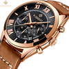 WISHDOIT Men S Watch Top Luxury Brand Business Mens Quartz Watches High Quality Leather Casual Fashion