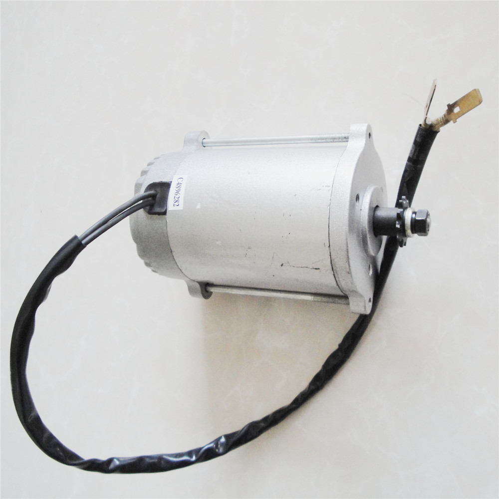 High speed synchronous belt wheel scooter DC motor with pulley or sprocket style be optional MY7618 300W24/36V gy6 scooter driven wheel high performance scooterl drivern scooter fit for 125cc 150cc engine chinese all brand motocross lh 115