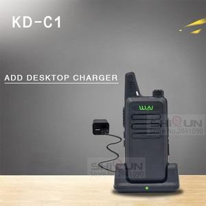 Image 3 - 1 قطعة WLN KD C1 جهاز مرسل ومستقبل صغير UHF اتجاهين راديو RT22 تالكي وكي WLN راديو 5 واط صغيرة المحمولة 2 طريقة راديو UHF 400 470Mh USB
