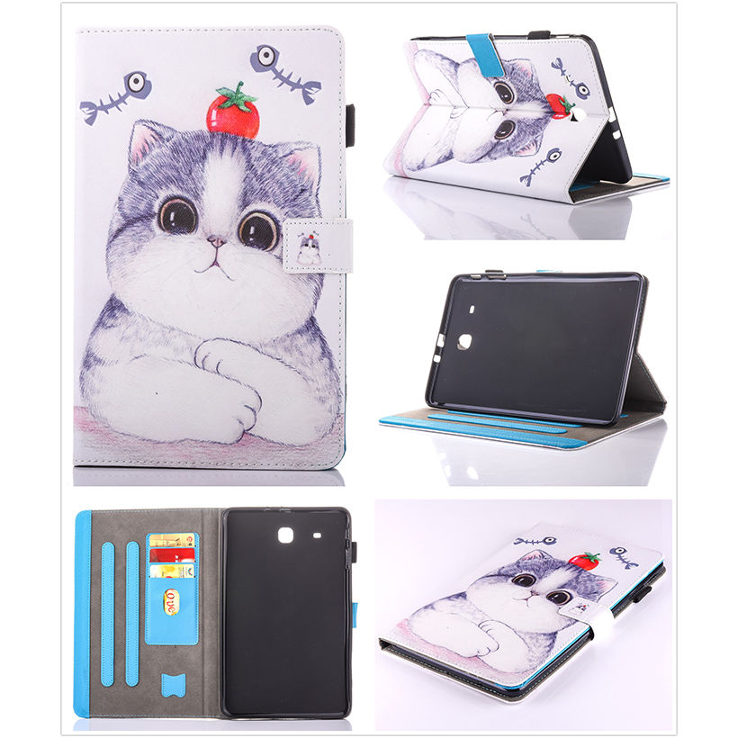 Moda Animal Flip PU cuero sFor Samsung Galaxy Tab E 9.6 para Samsung - Accesorios para tablets - foto 5