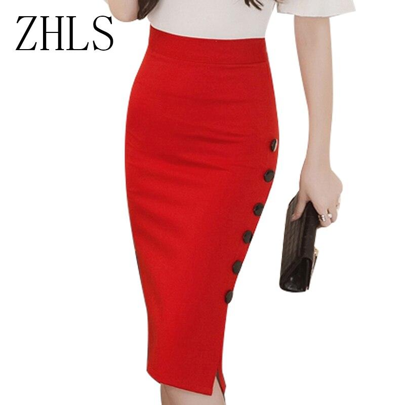 Women Long Skirt 2016 Spring Autumn High Waist Pencil