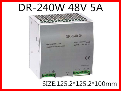 цена на DR-240-48 Din Rail Switching power supply 240W 48VDC 5A Output
