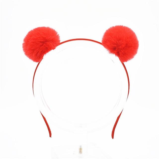 1 pcs 2018 Doces Meninas Coelho Bonito Orelhas de Gato de Pelúcia Bola de Cabelo Grande Headband Hoop Hairband Acessórios Para o Cabelo Tiara