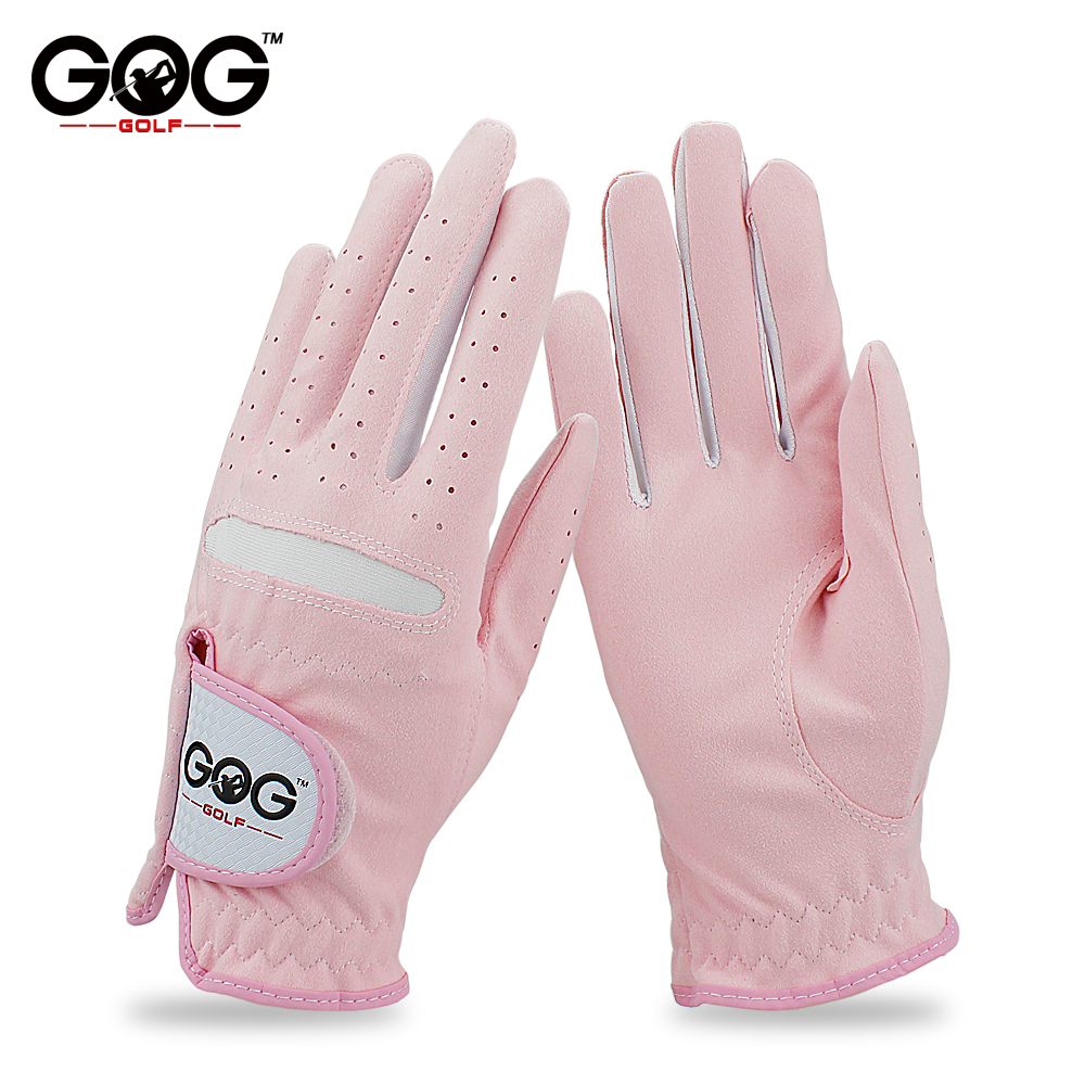 1578bb67b GOG GOLF GLOVES Professional Breathable Pink soft Fabric For women left and  right hand free shipping