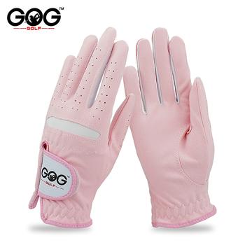 GOG rękawice golfowe profesjonalne oddychające różowy miękkie tkaniny dla kobiet lewej i prawej strony darmowa wysyłka 1 para tanie i dobre opinie WOMEN ST003