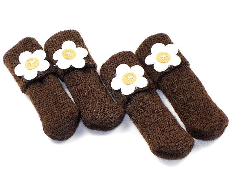 16 Pcs/lot Chair Leg Socks Cloth Gloves For Chair Protect Floor Knit Flower  Leg Sleeve Table Chair Covers Chair Sock  In Chair Cover From Home U0026 Garden  On ...