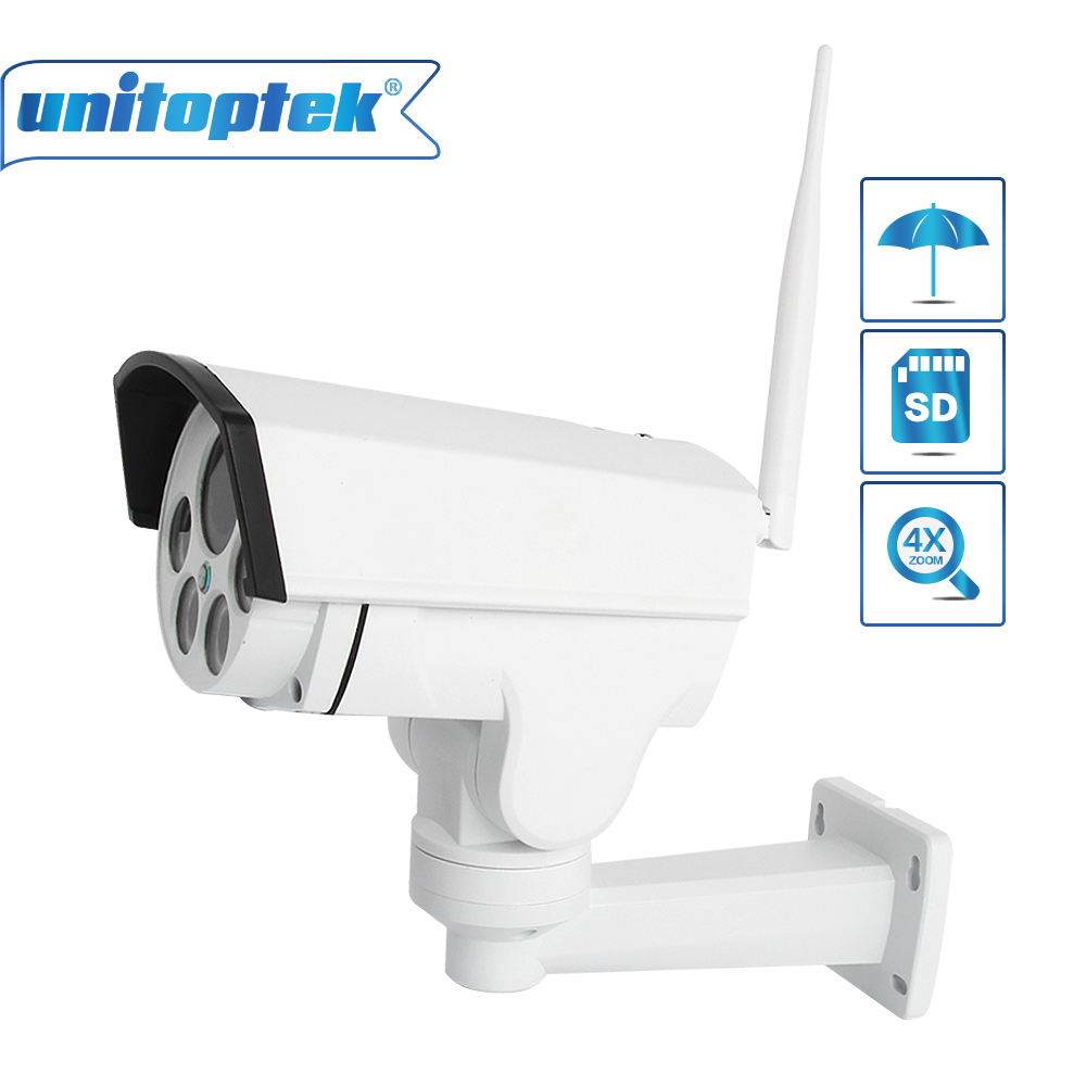 Wifi PTZ IP Wireless Camera HD 1080P 960P Bullet CCTV Camera Security Onvif 4X Zoom Auto Focus Lens Outdoor IR 30m CamHi View 30x zoom camera ptz wireless onvif 960p auto tracking wireless wifi infrared ip camera support audio