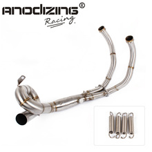 Motorcycle Exhaust Modified Scooter Front Pipe Slip-On Full System For yamaha FZ-07 MT-07 FZ 07 MT 07 2014-2017 XSR700 2016-2017