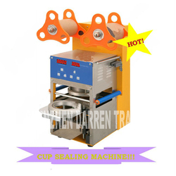 QF08 220V/110v  Digital Automatic Cup Sealing Machine  Of Tea estate bubble for drinking  stainless steel Material