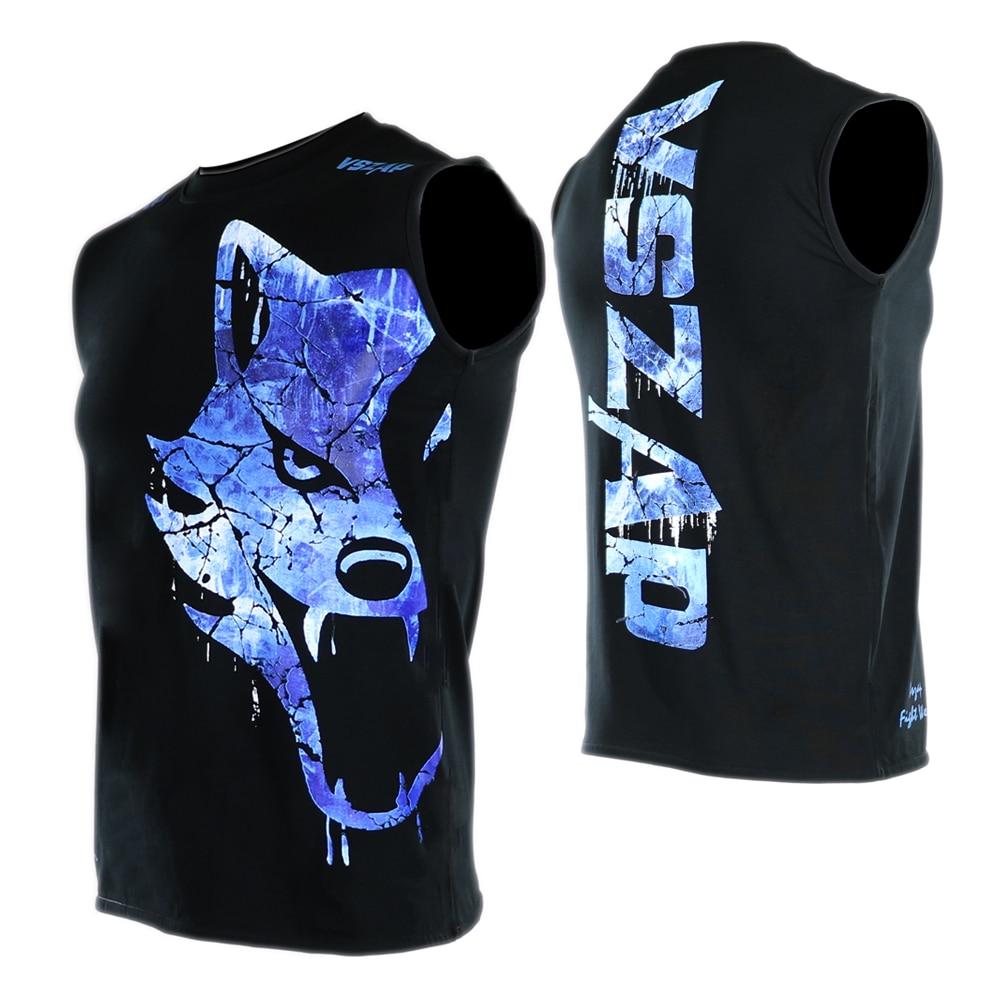 VSZAP Boxing MMA T Shirt Gym Tee Shirt Fighting Fighting Martial Arts Fitness Training Muay Thai T Shirt Men Homme Jiu Jitsu