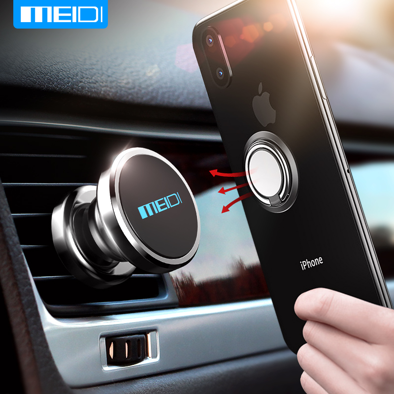 MEIDI  Car Mobile Phone Holder Finger Ring Combination Kit Phone Bracket Magnetic Phone Holder Use In The Car Air Vent MEIDI  Car Mobile Phone Holder Finger Ring Combination Kit Phone Bracket Magnetic Phone Holder Use In The Car Air Vent
