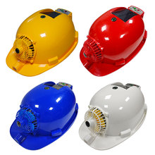 Factory Price! Solar Charging Power Bank Air Conditioner Cooling Fan Outdoor Working Hard Hat Construction Worker Helmet Safety