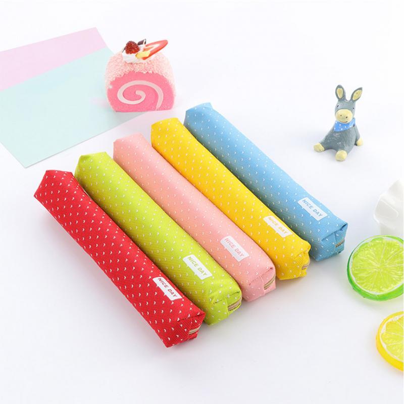 Cute dot candy color Makeup Organizer Bag Women small Cosmetic Bags Box Ladies Handbag Storage Bags Wash Bag