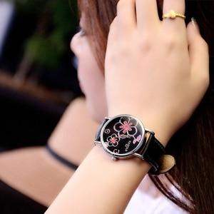 Image 3 - รายการใหม่หรูหรานาฬิกายี่ห้อผู้หญิงนาฬิกานาฬิกาข้อมือแฟชั่นลำลองผู้หญิงเลดี้นาฬิกาควอตซ์ นาฬิกาRelógio Femininoดอกไม้