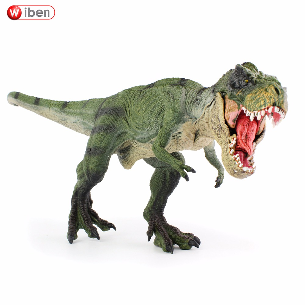 Wiben Jurassic Tyrannosaurus Rex Dinosaur Toys  Action Figure Animal Model Collection Learning & Educational Kids Gift wiben 3pcs jurassic triceratops tyrannosaurus rex parasaurolophus cub model dinosaur toys action toy figures collection gift