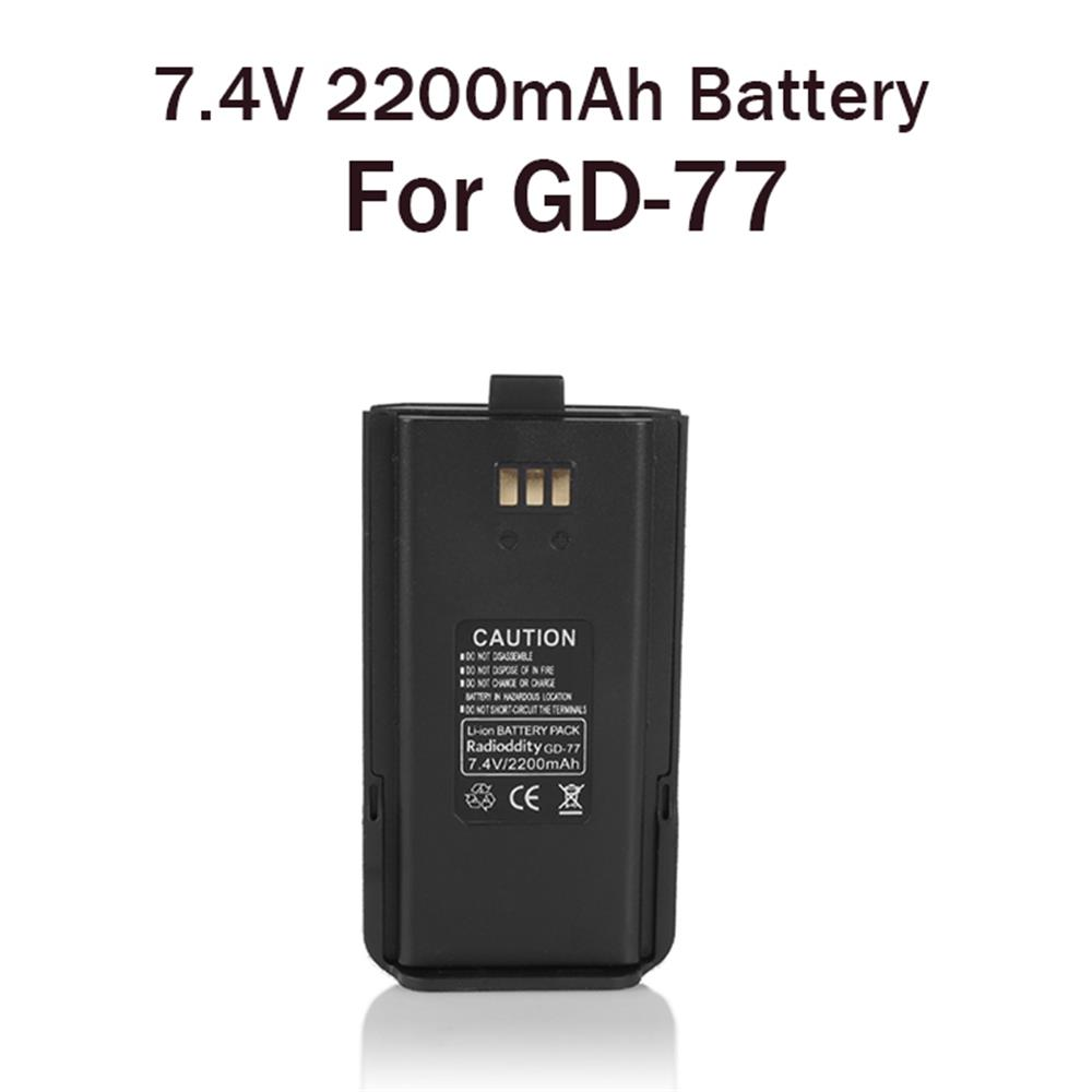 Radioddity 7.4V 2200mAh Li-ion Battery For Radioddity GD-77, GD-77S,GD-77BB
