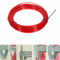 Nylon Steel Red Fish Draw Tape Electrical Cable Puller Pulling Electricians + Wheel Durable Quality