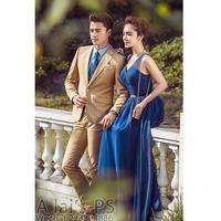 Latest Coat Pant Designs Brown Khaki Wedding Suits for Men Prom Jacket Slim Fit 2 Piece Groom Style Tuxedo Custom Blazer Ternos