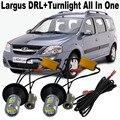 Shin ManSuper legal Para LADA Largus Frente Virada luz Do Carro LEVOU luz 20 W Luzes de Circulação Diurnas DRL & Frente Sinais de Volta Tudo Em Um