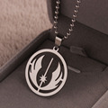 ER Stainelss Steel Star Wars Jedi Order Necklace Silver Ball Chain Neclace Men Star Wars Rebels Pendant Collier 2016 MN001