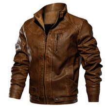 46622d73a1c Euro Size PU Leather Jacket Men Leather Standing Collar Jackets Coat Mens  Leather Jacket And Coats. 3 Colors Available