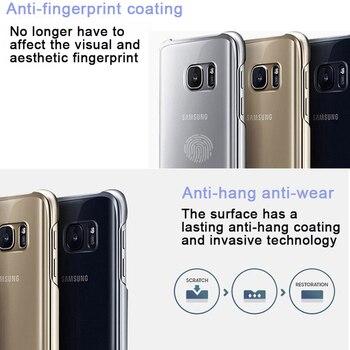 100 ٪ الأصلي غطاء الهاتف الذكي سامسونج لغالاكسي S7 S7Edge Higt الجودة PC مكافحة إسقاط الكهربائي حالة شفافة 1