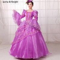 Мария-Антуанетта Вдохновленный Бал-маскарад платья принцессы Праздничное платье Фиолетовый Пышное Платье