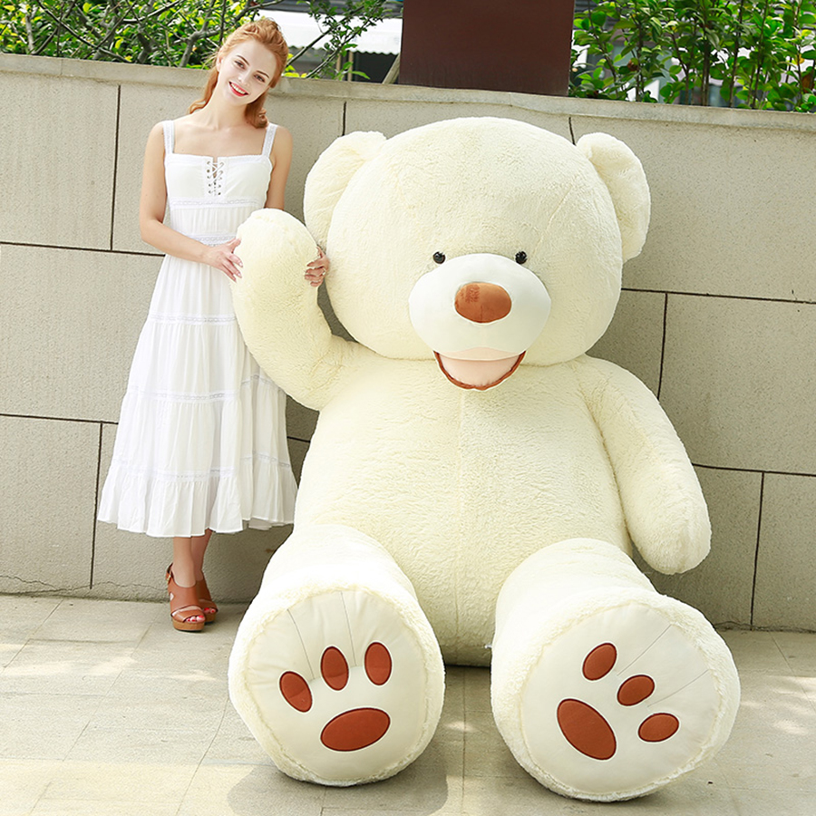 160cm Giant Teddy Bear Girl bed toy ornaments Plush Toy Big white bear Stuffed Animal Doll Cushion Girlfriend Gifts 50T0465 factory price 160cm teddy bear coat empty toy skin plush giant bear toy