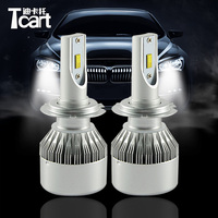 Tcart 2pcs Auto Led Headlights LOW BEAM DIPPED BEAM C6F H7 36W 3800LM 6000K Head Lamps For Toyota PX26D H7 RAV4 accessories 2006