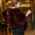 2016 New Fashion Winter Imitation Fox Fur Shawl Faux Fur Scarf Mink Wool Cloak Wedding Shawl TM9010