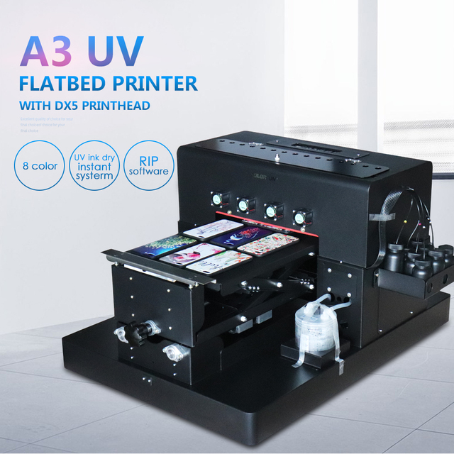 epson: New A3 Manual LED UV Printer 8 colors with Epson