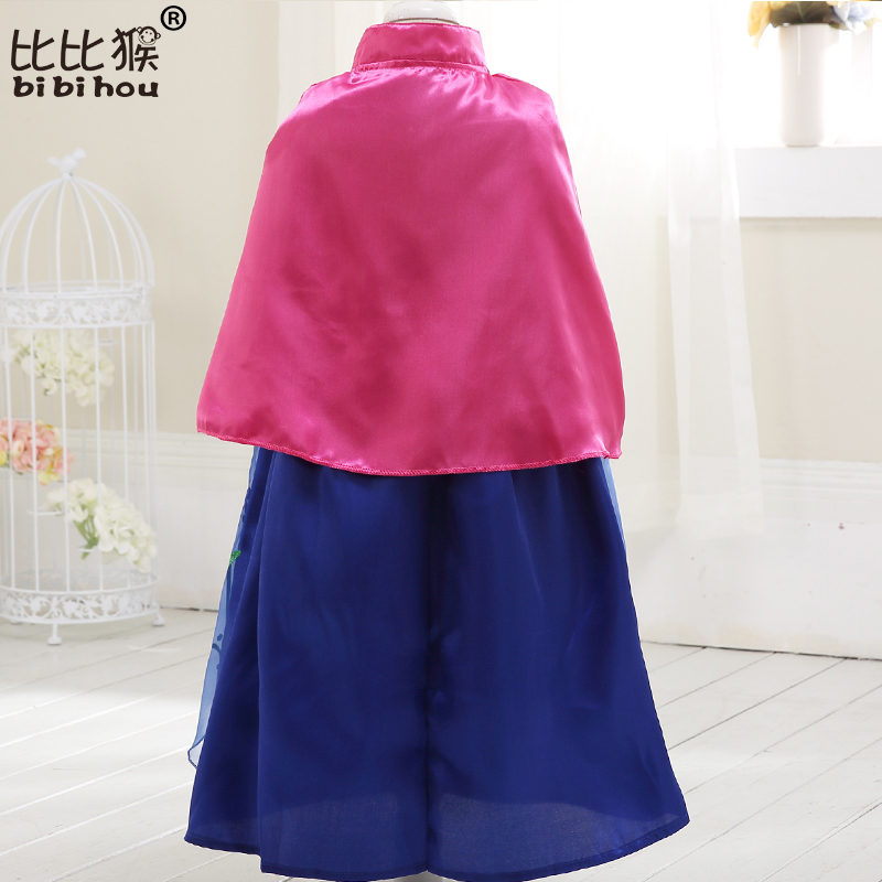 Girls Dress Summer COS costume princess Dress for Kids dress for girls Party  dress with cape Dress Costumes Cosplay 4