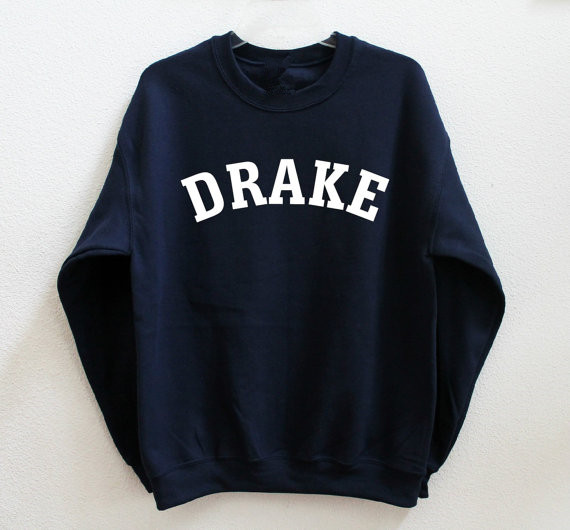Nera Hipster Camicia Manica Moda Felpa Casual Drake Lunga Tumblr XZPkuOi