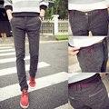 De alta calidad de Hombre pantalones casuales pantalones flacos masculinos pantalones adolescentes (tamaño Asiático 27-38)