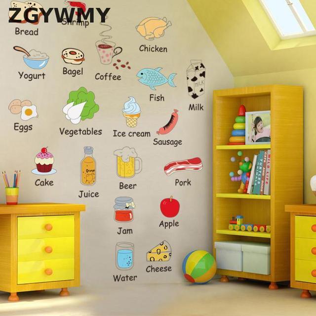 Kartun Stiker Dinding Ruang Tamu R Tidur Dapur Peralatan Air Polusi Dekoratif Tongkat Latar Belakang